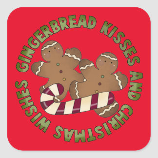 Gingerbread kisses cookie fun Holiday sticker