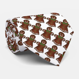 Gingerbread Lady Cookies Christmas Holiday Tie