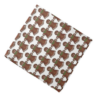 Gingerbread Lady Woman Christmas Holiday Cookie Bandana
