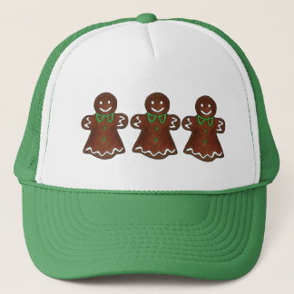 Gingerbread Lady Woman Christmas Holiday Cookie Trucker Hat