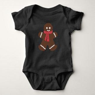 Gingerbread male baby bodysuit