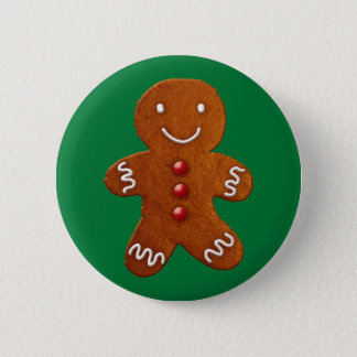 Gingerbread Man 6 Cm Round Badge