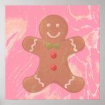 Gingerbread Man Art Poster