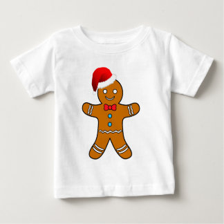 gingerbread man at christmas baby T-Shirt