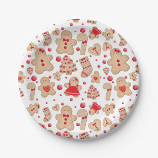 Gingerbread Man Baked Cookies Rustic Whimsical Paper Plate
