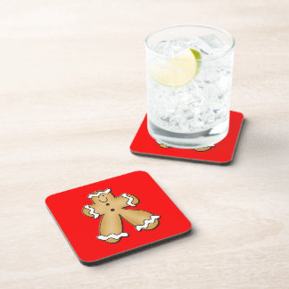 Gingerbread Man Beverage Coasters