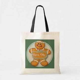 Gingerbread Man - Bite Me Budget Tote Bag