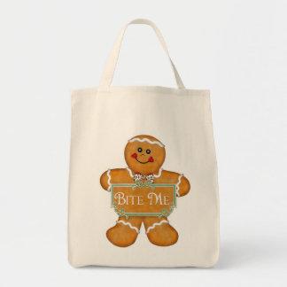 Gingerbread Man - Bite Me Canvas Bags