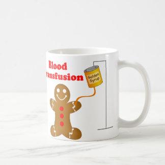 Gingerbread Man Blood Bank and Blood Transfusion Basic White Mug