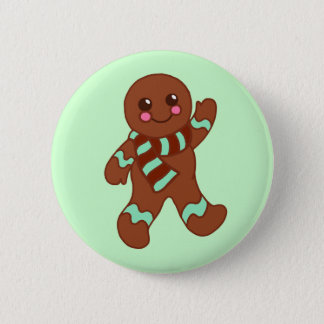 Gingerbread Man Button