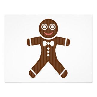 Gingerbread man cartoon flyer design