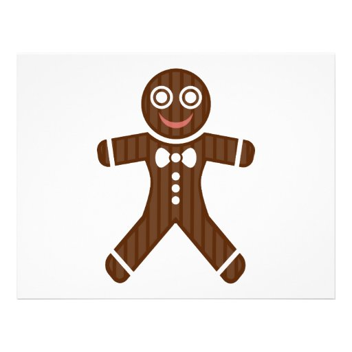 Gingerbread man cartoon flyer design