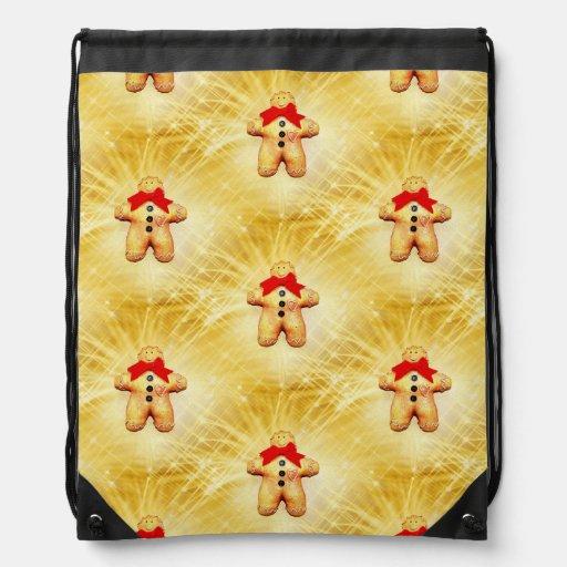 Gingerbread Man Celebration Cinch Bags