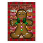 Gingerbread Man Christmas Card - Merry Christmas