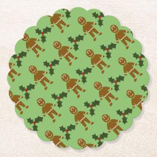Gingerbread Man Christmas Coasters