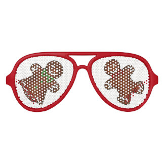 Gingerbread Man Christmas Cookie Holiday Baking Aviator Sunglasses