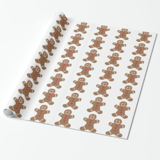Gingerbread Man Christmas Holiday Wrap Wrapping Paper