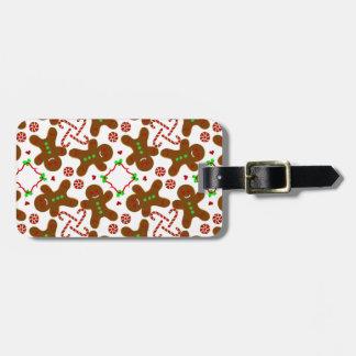 Gingerbread man Christmas Monograme Bag Tags
