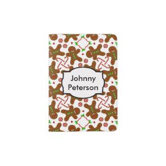 Gingerbread man Christmas Monograme Passport Holder