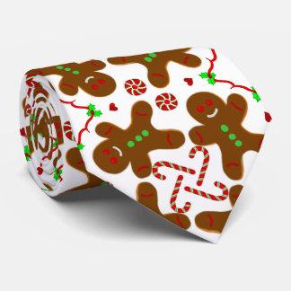 Gingerbread man Christmas Monograme Tie
