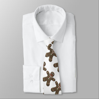 Gingerbread Man Christmas Neck Tie