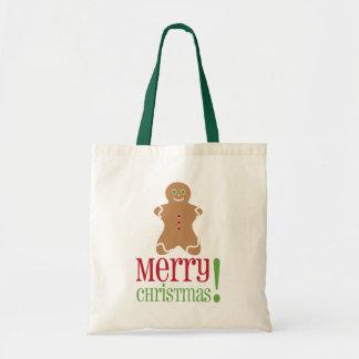 Gingerbread Man Christmas Tote Tote Bags