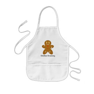 Gingerbread Man Clothes Snacking Kids Apron