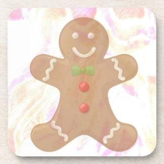 Gingerbread Man Coaster Set