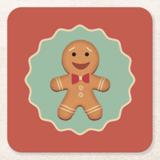 Gingerbread Man Coasters