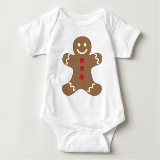Gingerbread Man Cookie Christmas Baby  Shirt