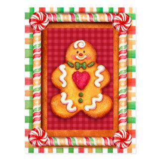 Gingerbread Man Cookie Postcard