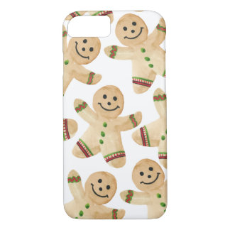Gingerbread Man Cookie - Watercolor Christmas iPhone 8/7 Case