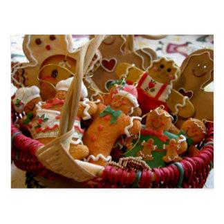 gingerbread man cookies postcard