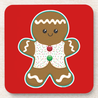 Gingerbread Man Drink Coasters