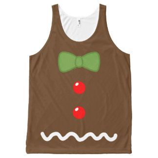 Gingerbread Man Costume All-Over Print Tank Top