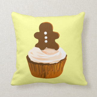 Gingerbread man cupcake cushion