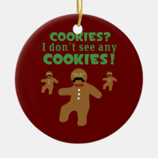 Gingerbread Man Disguise Christmas Ornament