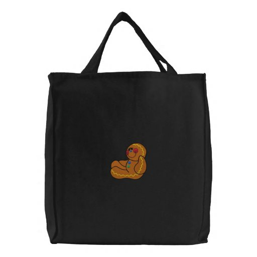 Gingerbread Man Embroidered Bag