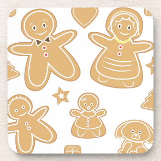 Gingerbread man family coasters