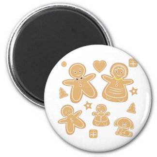 Gingerbread man family magnets