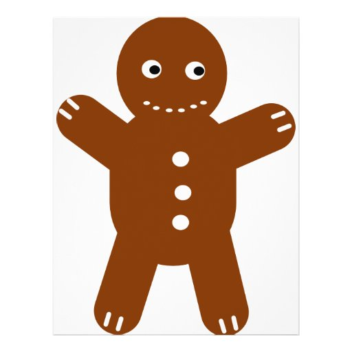 gingerbread man custom flyer