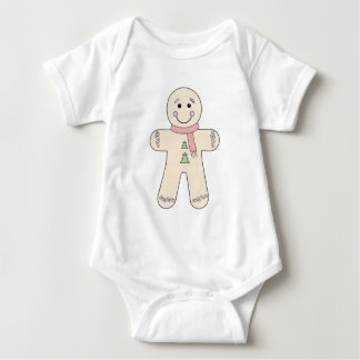 Gingerbread man for Christmas Baby Bodysuit