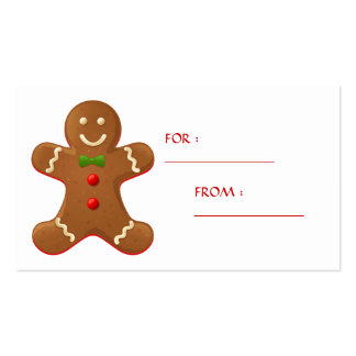 Gingerbread man Gift Tag Business Cards