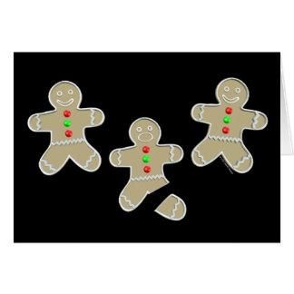Gingerbread Man Got Hurt Greeting Cards