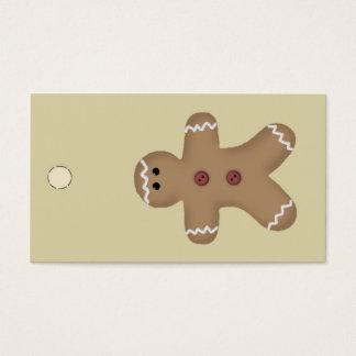 Gingerbread Man Hang Tag or Gift Tag