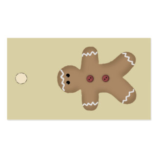 Gingerbread Man Hang Tag or Gift Tag Pack Of Standard Business Cards