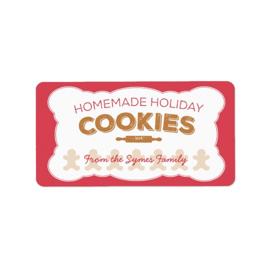 Gingerbread Man Holiday Cookies Label Address Label