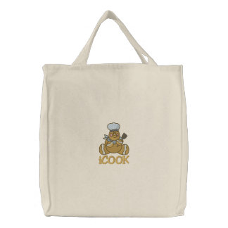 Gingerbread Man - iBAKE Embroidered Tote Bags