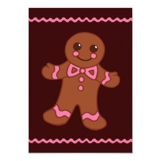 Gingerbread Man Invitation