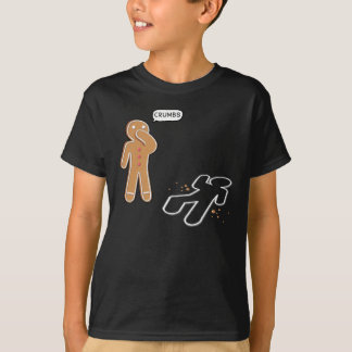 Gingerbread man Ironic Crime scene 'CRUMBS' T-Shirt